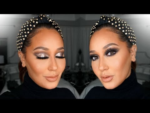Glitter Holiday Makeup Tutorial   All Things Adrienne