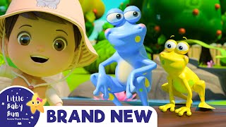 5 Little Speckled Frogs | BRAND NEW! | Baby Songs +Nursery Rhymes & Kids Songs | Little Baby Bum
