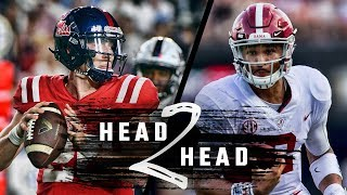 Head to Head: Alabama vs Ole Miss