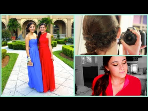 Get ready for prom with me + pictures!