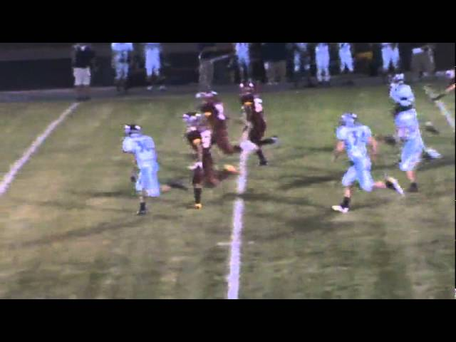 9-30-11 - Eric Garcia sprints 71 yards for the score (Brush 6, Platte Valley 0)