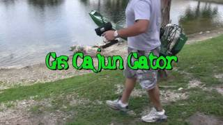 Cajun Gator RC Airboat tuned pipe testing