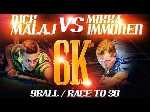 Challenge Match: Nick Malaj VS Mika Immonen (Hill Hill Athens Pool Hall)