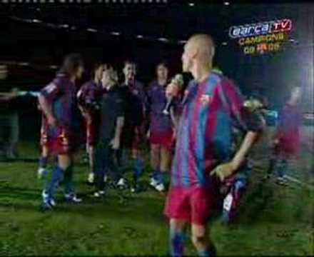Despedida de Larsson Barça