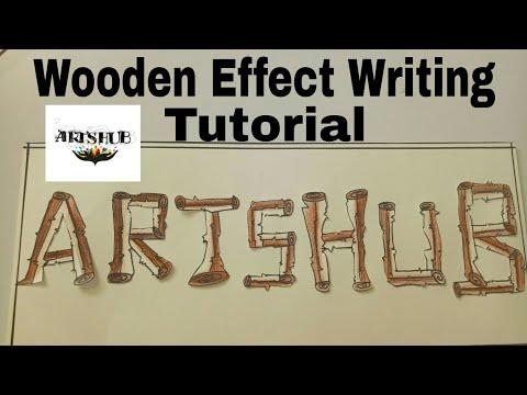 Wood Writing Tutorial....Wood Effect writing ArtsHub Handmades presents