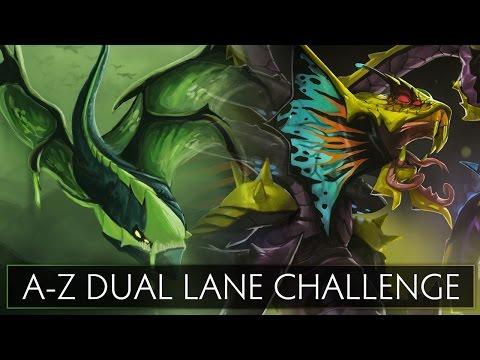 Dota 2 AZ Dual Lane Challenge  Venomancer and Viper
