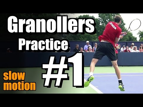 Marcel Granollers In Super Slow Motion | Backhand And Serve #1 | Western & Southern Open 2014