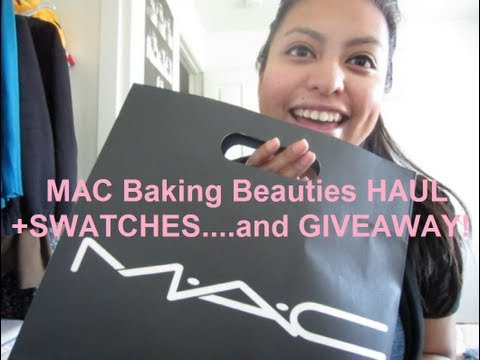 MAC Baking Beauties HAUL+Swatches+Small Giveaway #4 (CLOSED!)