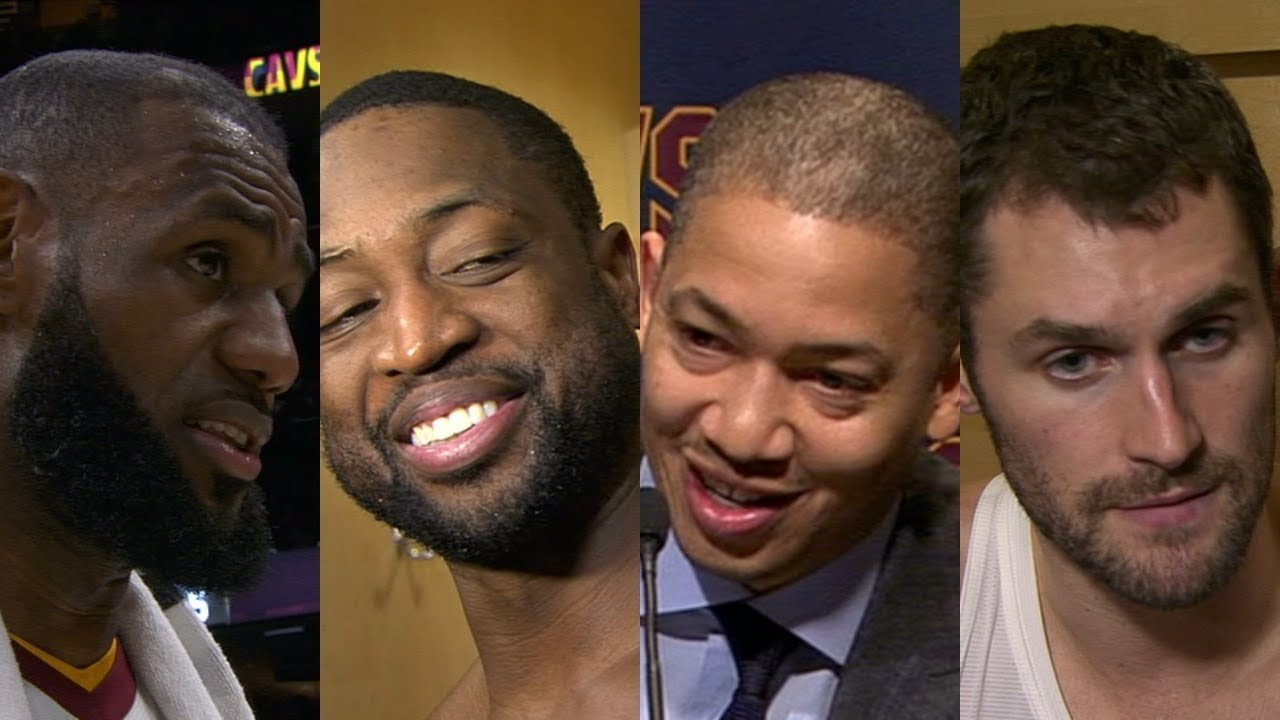 Cavaliers postgame after win vs. Clippers [LeBron James, Dwyane Wade, Tyronn Lue, Kevin Love] | ESPN
