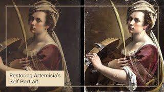 Finishing the clean | Cleaning Artemisia's 'Self Portrait' | National Gallery