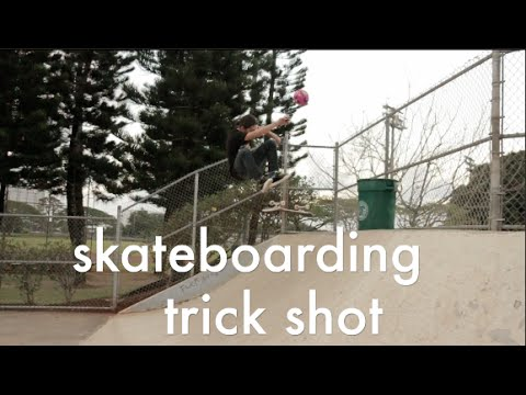 Skateboarding Trick Shot - ft. Micah McDermott & Jason Park