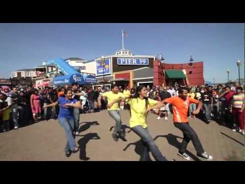 Chennai Super Kings - San Francisco Flash Mob video