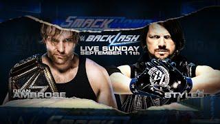 #WWEBacklash AJ STYLES VS. DEAN AMBROSE - FULL MATCH LIVE REACTION 9/11/16