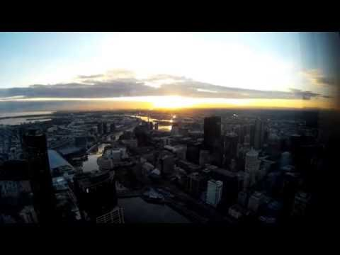 Time-lapse Sunset in Melbourne Eureka Skydeck 88 Tower