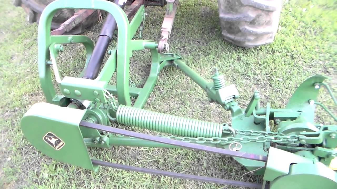John deere 350 sickle bar mower youtube - Sickle bar mower for garden tractor ...