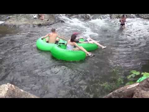 Watching tubing in Helen, GA on 2013 LaborDay 2