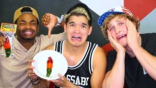 SPICY GUMMY PEPPER CHALLENGE!!