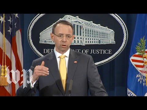 Watch Rosenstein's full announcement of the indictment of 13 Russians