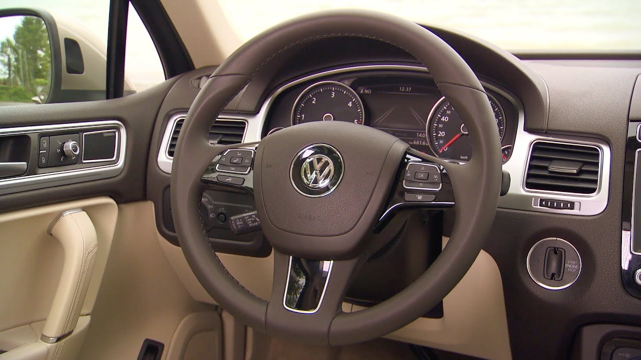 new 2015 volkswagen touareg interior youtube. Black Bedroom Furniture Sets. Home Design Ideas