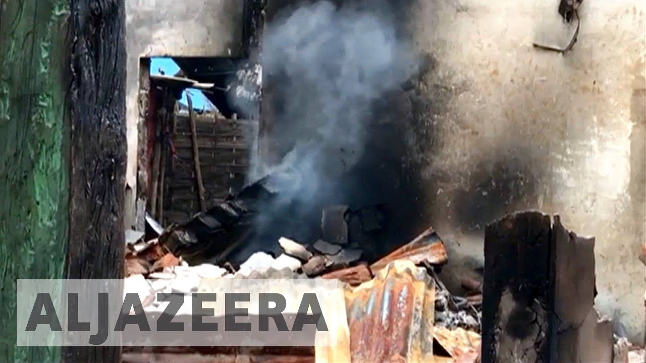 Conflicting claims over arsons in Myanmar's Rakhine