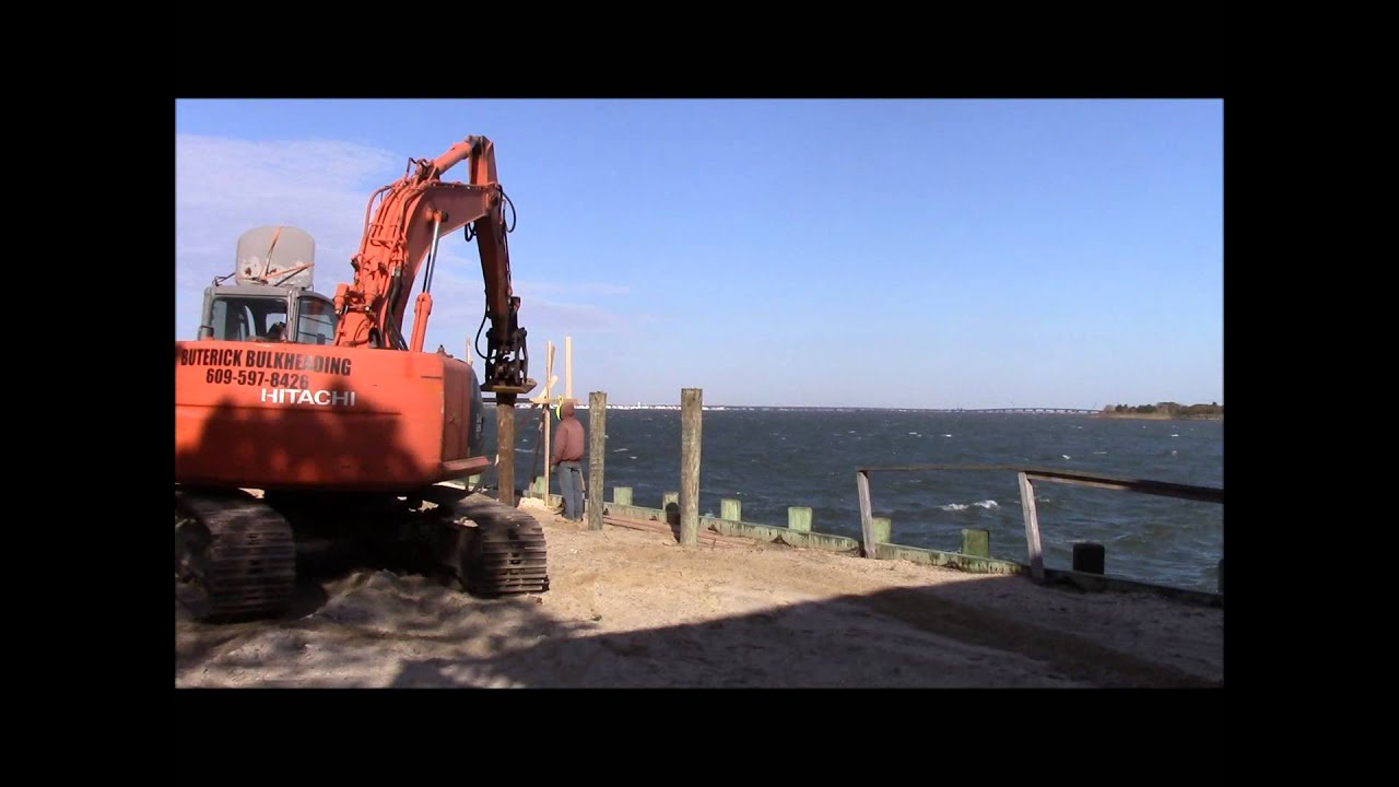 Lbi House Raise Driving New Pilings Youtube