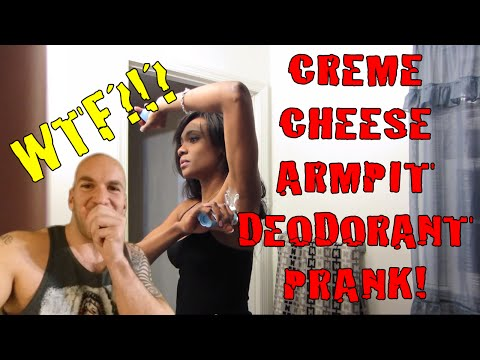 Creme Cheese Armpit Deodorant Prank video