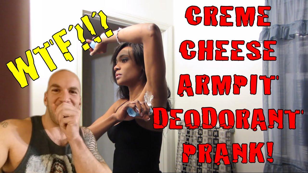 Creme Cheese Armpit Deodorant Prank