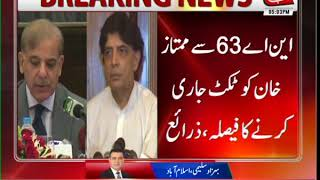 PML-N Decides to Field Candidates Against Chaudhry Nisar