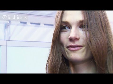 Caroline Brasch Nielsen - Model Talk at Fashion Week Fall/Winter 2012-13 | FashionTV