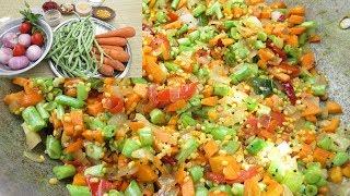 Wow...Amazing Taste Carrot Beans Recipe | Village Food