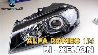 Alfa Romeo 156 Bi xenon projector headlight retrofit installation video