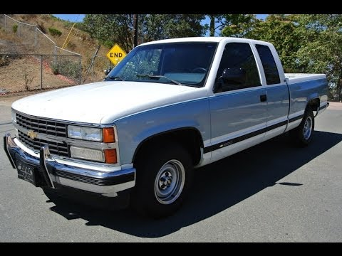 1 Owner 1990 Chevy 1500 Extended Cab Pickup Truck 46.000 Orig Miles C1500 A+