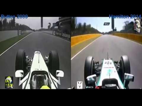 Lap Comparison - Button 2009 Vs Hamilton 2014 Spain