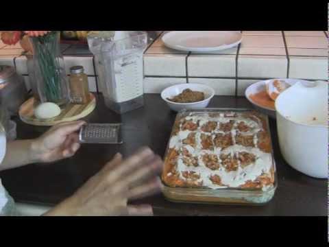 Lasaña o canelones misma receta todo crudovegetariano.wmv