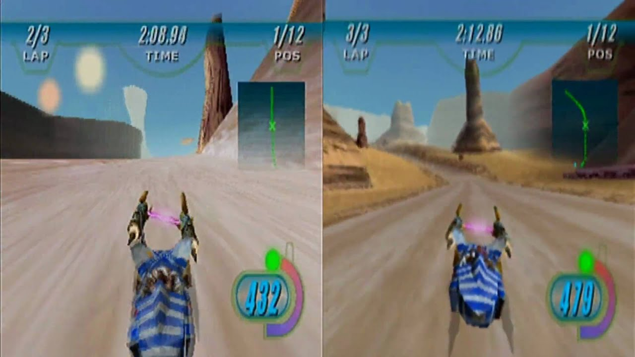 N64 Episode 1 Racer Expansion Pack Comparison HD1080p