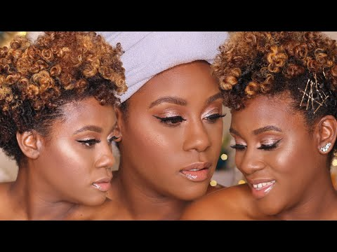 GRWM Full Face First Impression Holiday Glam Makeup Tutorial for Dark Skin