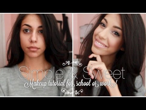 simple  sweet easy everyday polished  pretty makeup