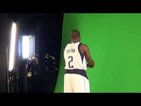 Dallas Mavericks Media Day 2014 Raymond Felton promo shoot