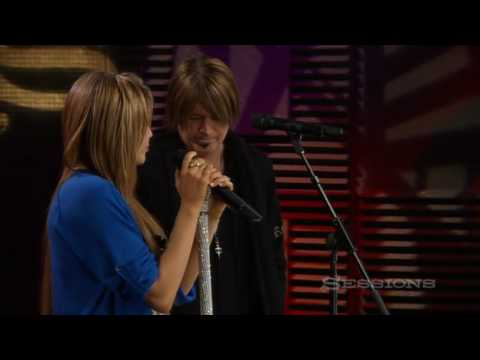Miley Cyrus and Billy Ray Cyrus - Butterfly Fly Away - AOL Music Sessions - HQ Video