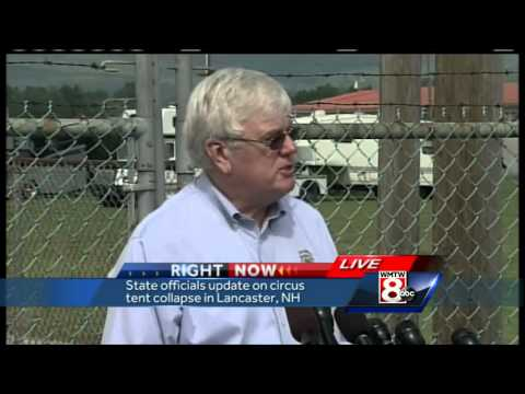 Officials hold news conference on tent collapse investigation