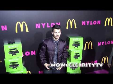 Joe Jonas at Demi Lovato Nylon Magazine Party in Hollywood