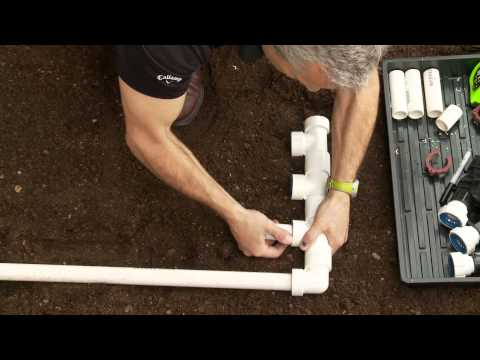How To Install PVC Sprinkler Manifold; Glueless Fittings PVC-Lock®
