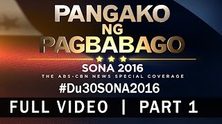download lagu President Duterte's Sona 2016 Speech Part 1/3 gratis