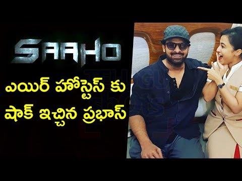 Prabhas With Air Hostess Photo Goes Viral - Telugu Shots