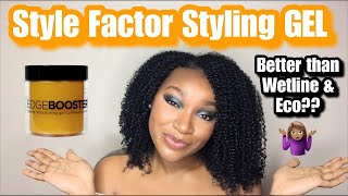 NEW Style Factor Edge Booster GEL Wash & Go Demo & Review | Better Than Wetline & Eco Style?