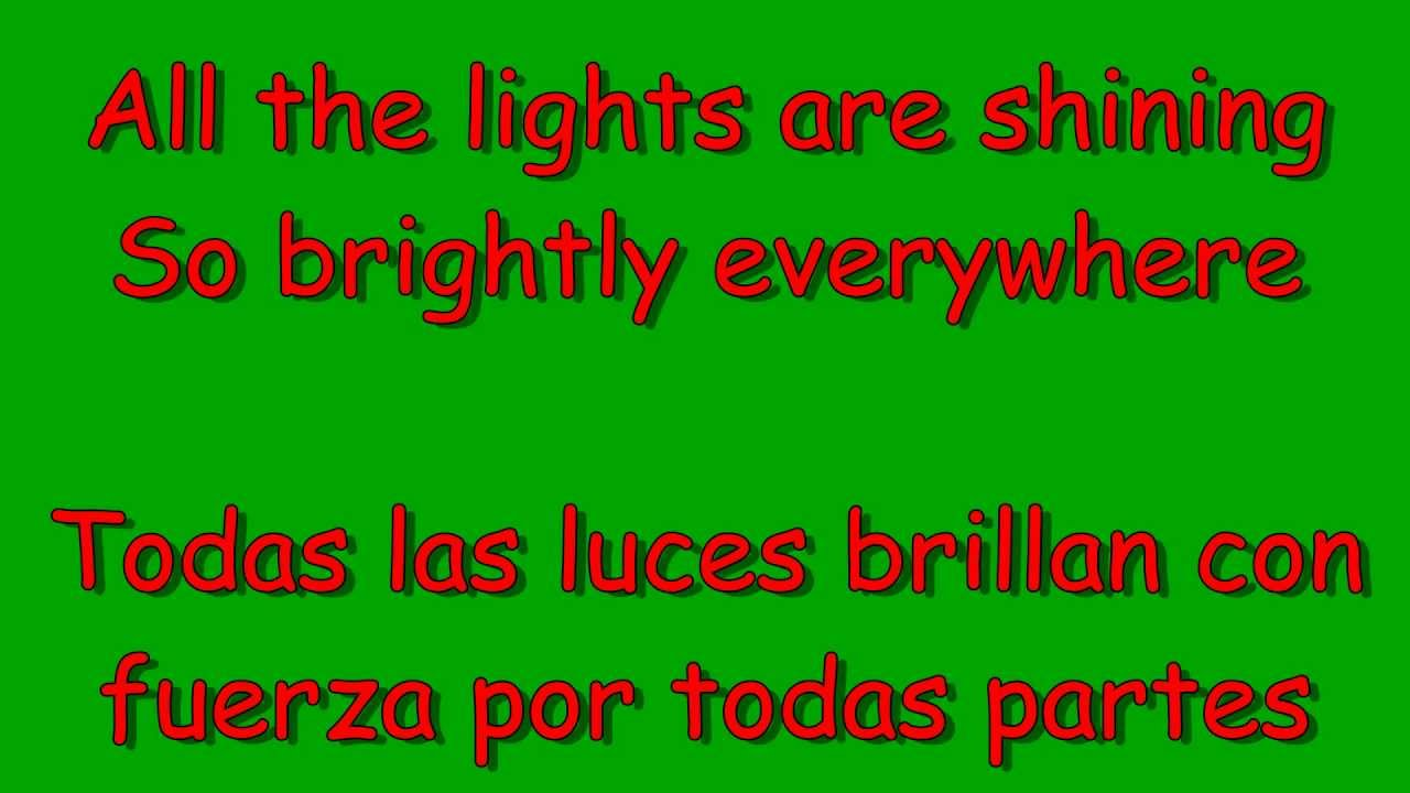 Glee - All I want for Christmas is you (lyrics & traduccion en español) - YouTube