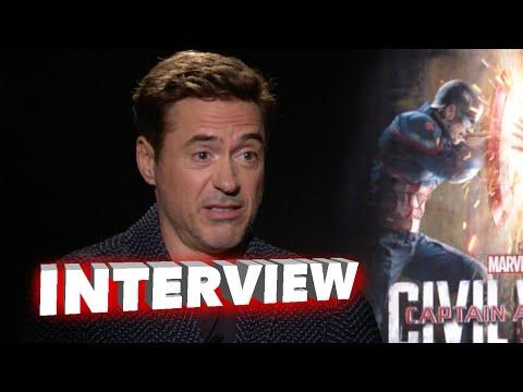 """Captain America: Civil War: Robert Downey Jr. """"Iron Man"""" Official Movie Interview"""