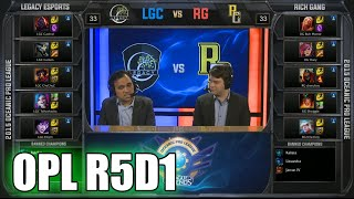 Legacy Vs Rich Gang Round 5 Day 1 Oceanic Pro League Spring 2015 Lgc Vs Rg