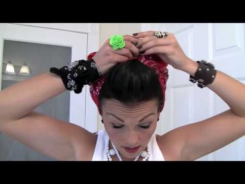 Pin-Up Hair Do - Rosie the Riveter Bandana