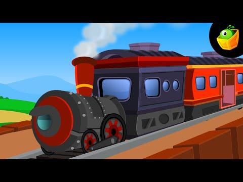 Chuk Chuk Rail Gadi - Hindi Animated cartoon Nursery Rhymes For Kids video